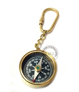 Nautical Key Chain Compass