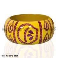 Vibrancy of Jaipur  -Painted Wooden Bangle