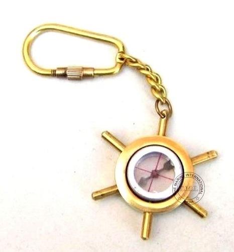 Key Chain ShipWheel & Compass