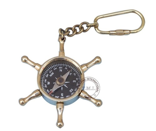 Key Chain Wheel Compass