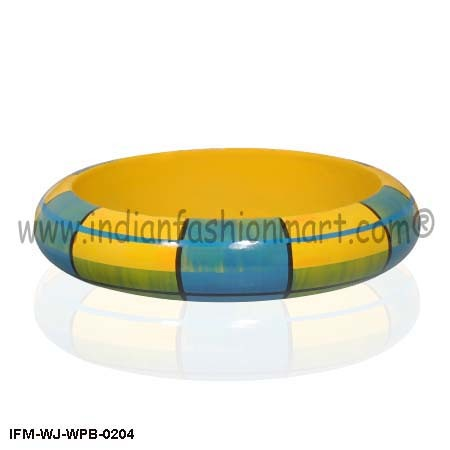 Golden Junction  - Wooden Bangle