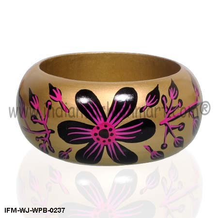 Wooden Painted Bangles