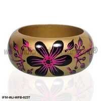 Wild Florets - Painted wooden Bangle