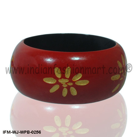 Sensuous Definition-Wooden Painted Bangle