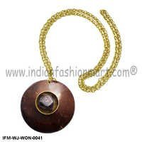 Salubrious Wassail  - Coconut shell Pendant