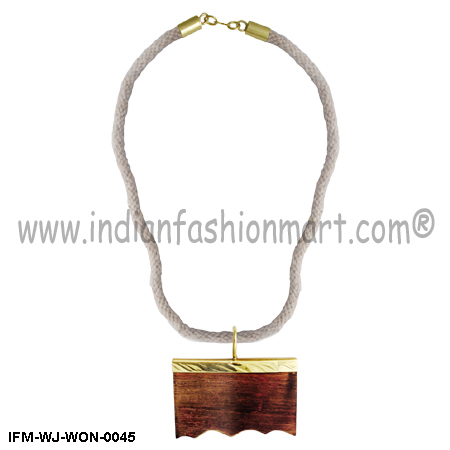 Zymurgy Moderna   - Wooden pendant necklace