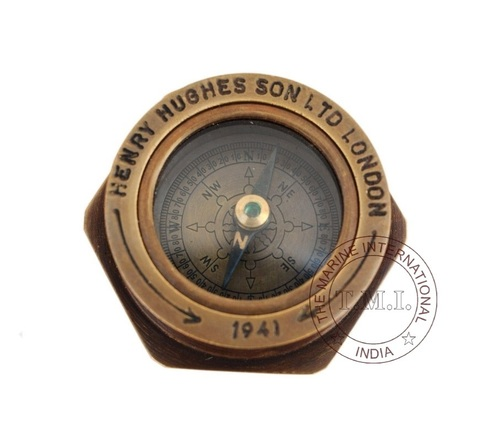 Antique Royal Navy Flat Compass