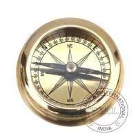 Brass Flat Pocket Compass
