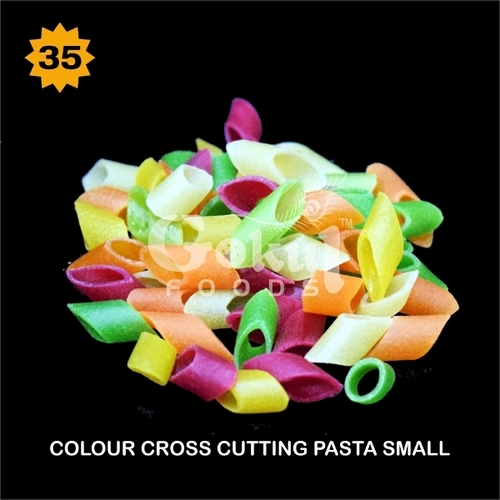 Colour Cross Cutting Pasta Fryum