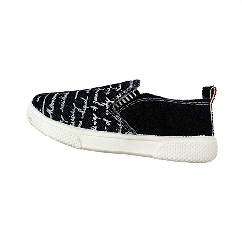 Kids Black Canvas Shoes