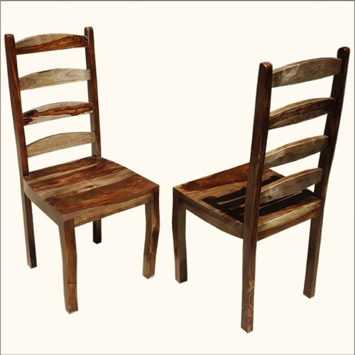 Solid Wood Ladder-Back Chair