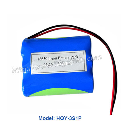 11.1V Lithium battery pack