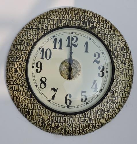Alphabetical Wooden Clock