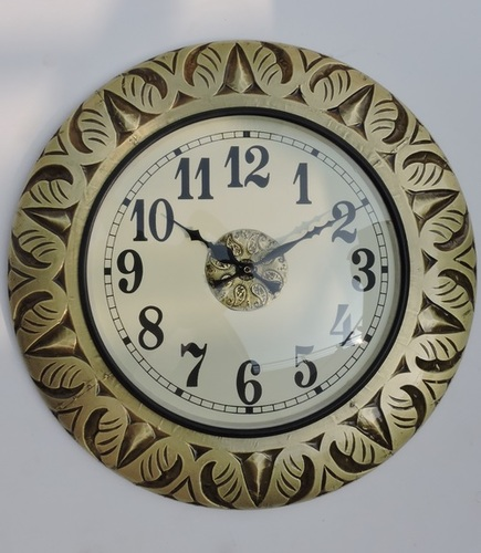 Hand Carved Wall Clock