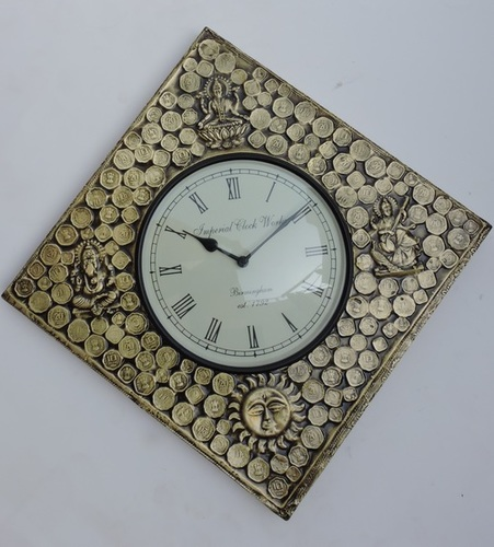Coin Fitted Square Wall Clock