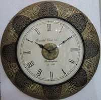 Brass Wooden Wall Clock