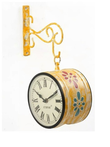 Metal Hand Painted Wall Clock