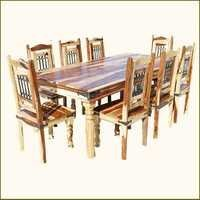 Classic Solid Wood Dining Room Table and Chair Set