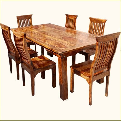 Rustic Solid Wood Dining Table Chair Set Furniture Manufacturer