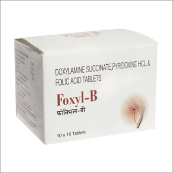 Doxylamine succinate Pyridoxine Hcl Folic Acid