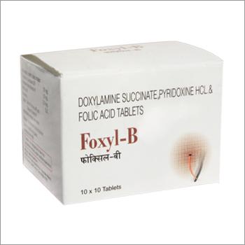 Doxylamine succinate Pyridoxine Hcl Folic Acid