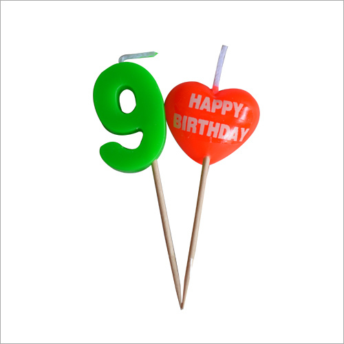 Candle Digit Toothpick Heart