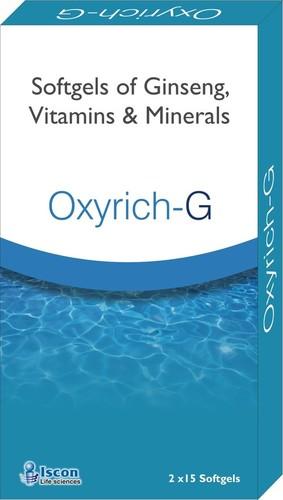 Ginseng, Vitamins & Minerals Softgelatin Capsules