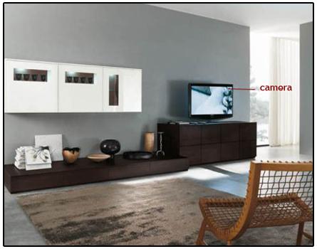 Spy Camera In Color Tv