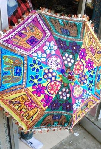 Rajasthani Umbrella - Elephant Design