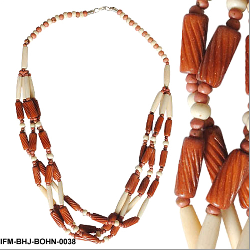 Twisty Pipes -Bone Horn Necklace