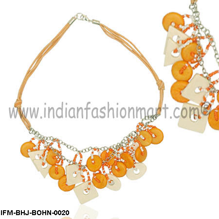 Frozen Orange   - Bone Necklace