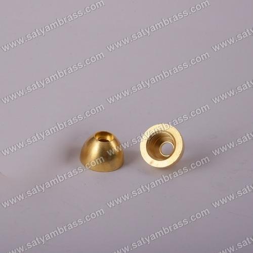 Brass Half Round Ball Coupler