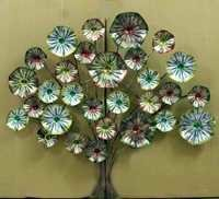 Hand Painted Flower Design Wall decor