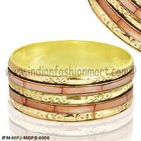 Blazing Mingei - Mother of Pearl Bangle