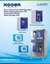 Multi Coin And Card Operated Water Vending Machine