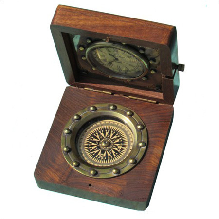 Antique Wooden Compass