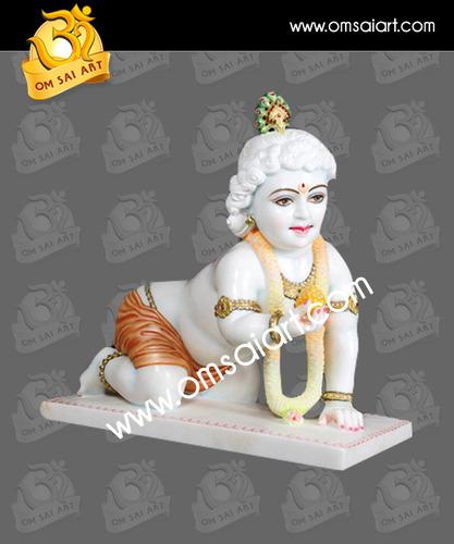 God Laddu Gopal Marble Statue