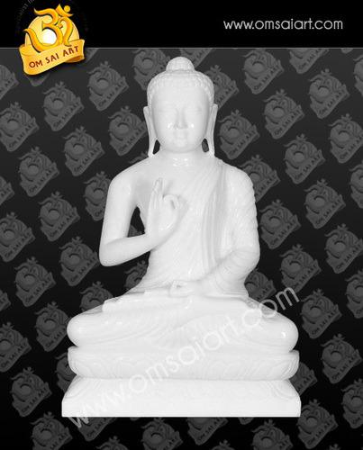 Marble Mahatma Buddh Statue
