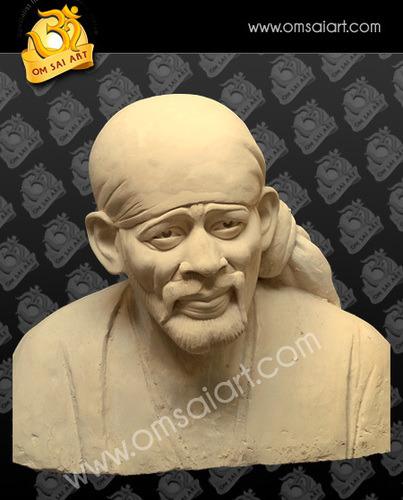 Sai Baba Clay Statue