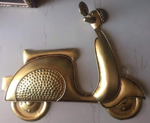 Golden Scooter Wall Decor