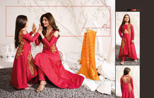 Designer Raw Silk Salwar suits