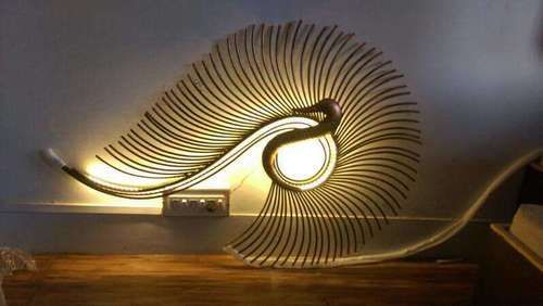 LED Peacock Wall Decor