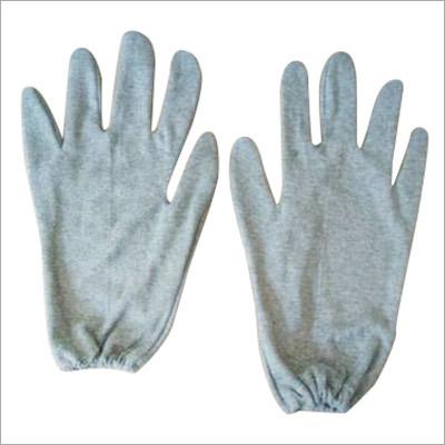 Grey Hosiery Hand Gloves
