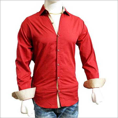 Designer Mens Red Shirts