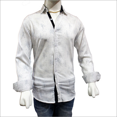 Mens Satin Print Shirts
