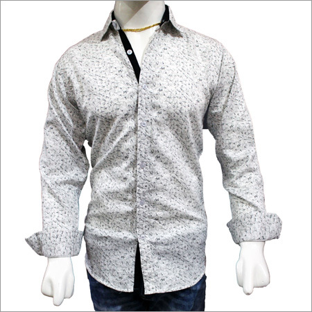 Mens Fancy Satin Print Shirts