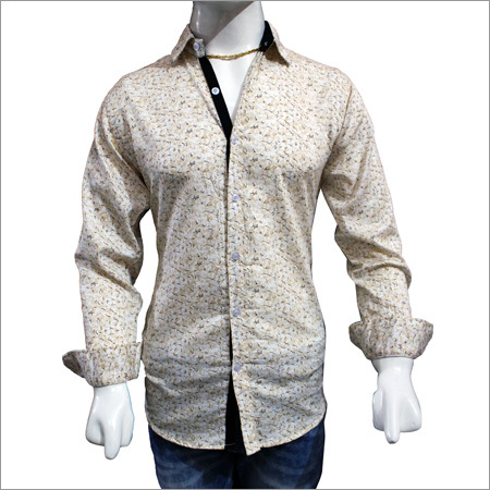 Mens Trendy Satin Print Shirts