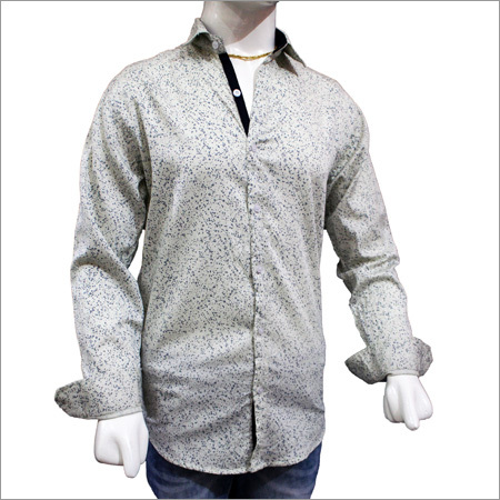 Gents Trendy Satin Print Shirts