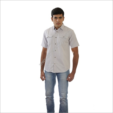 Men Woven Bush Shirt