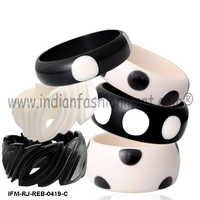 Polka Darling  - Resin Bangle